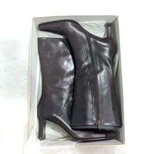 Paloma Picasso Shoes - PALOMA PICASSO Heeled Mid Calf Brown Boots